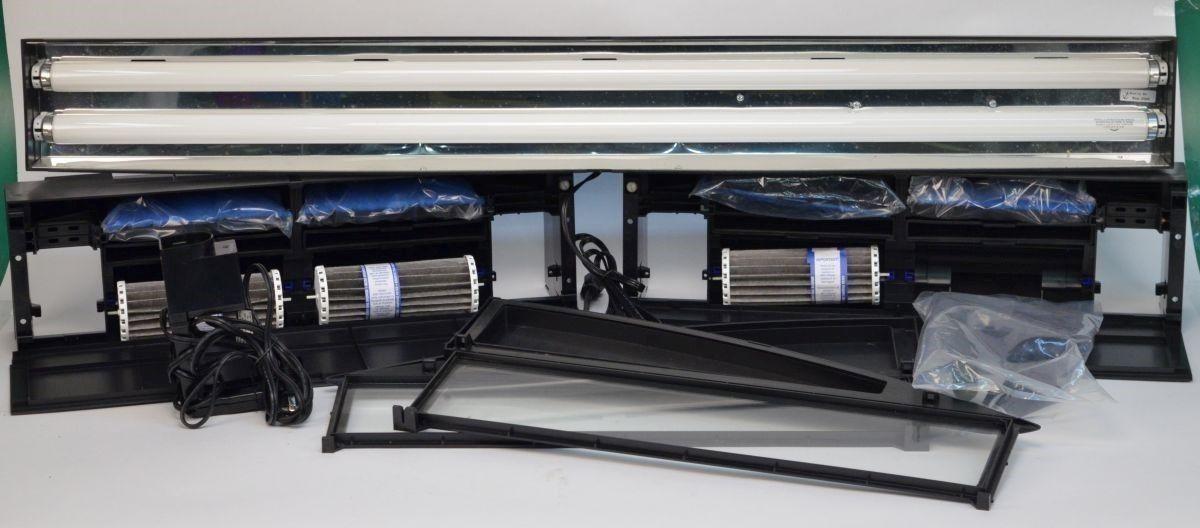 Marineland 600-E Bio-Wheel Canopy 3-Stage Fitration & Lighting System Aquarium