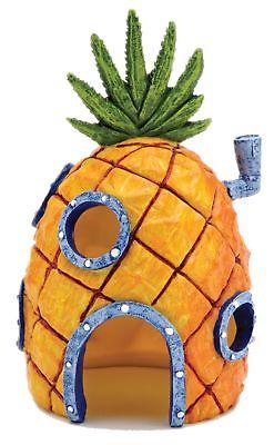 Nickelodeon's SpongeBob SquarePants Small 6 Inch Pineapple House Aquarium Orn...