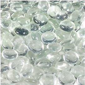 Dashington Flat Clear Marbles Pebbles 5 Pound Bag for Vase Filler Table Scatter