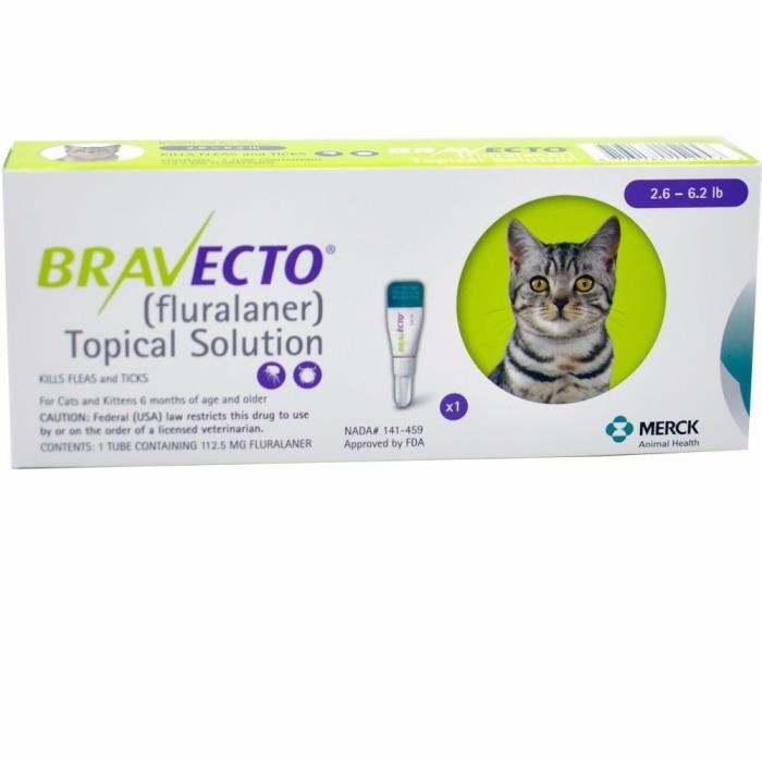 Bravecto for Cats - 2.6 - 6.2 lbs Single Dose