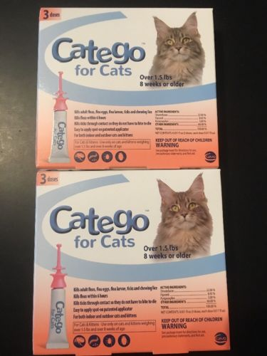 Catego for Cats Flea Treatment 6 Doses Over 1.5lbs