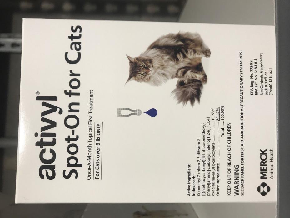 Activyl Cat 9+ lbs 6 Applications