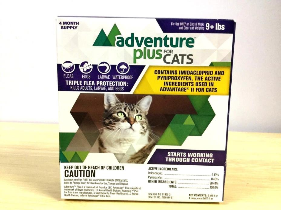 Adventure Plus for Cats Triple Flea Protection For Cats 5-9 lbs