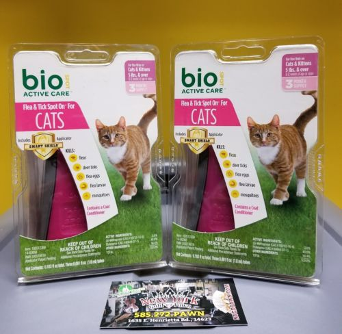 Bio Spot Active Care Flea & Tick Spot On for Cats 5 Pounds & Over 6 month spply
