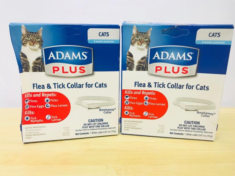 Lot of 2 Adams plus Flea Eggs & Tick Collar for Cats and Kittens (14 mos. total)