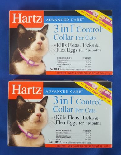 Hartz Advanced Care 3 in 1 Collar for Cats Lot of 2