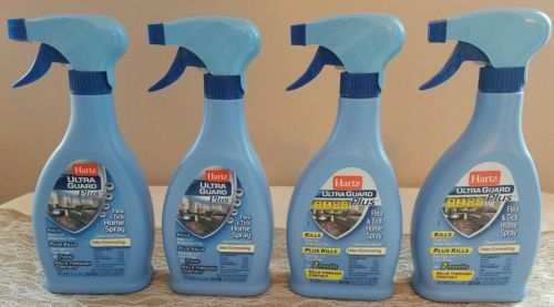 Lot of 4! Hartz Ultraguard Plus Flea & Tick Home Spray, 16 oz in each bottle.
