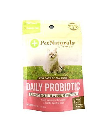 Pet Naturals of Vermont Daily Digest Fun-Shaped Chews for Cats Cat Food Supplies