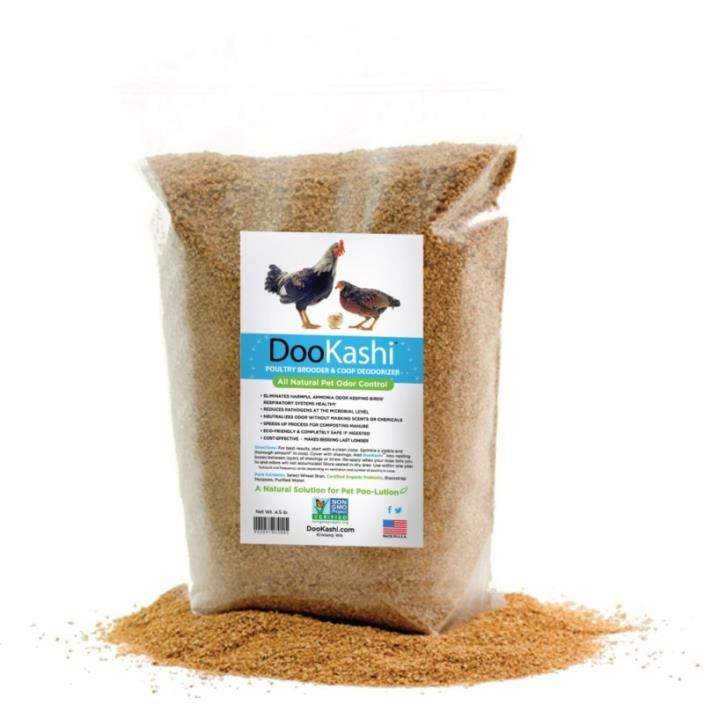 DooKashi for Poultry Coop Odor Eliminator & Compost Accelerator