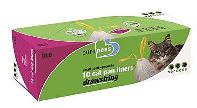 Van Ness Small Drawstring Liners 10 Count Litter Boxes Cat Supplies Pet