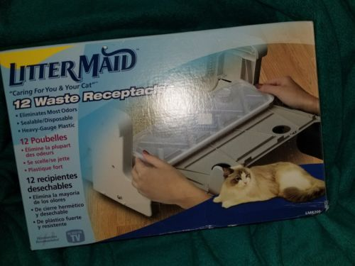 LitterMaid Waste Receptacles, 12-Pack Cat Litterbox Genuine Original Litter Pet