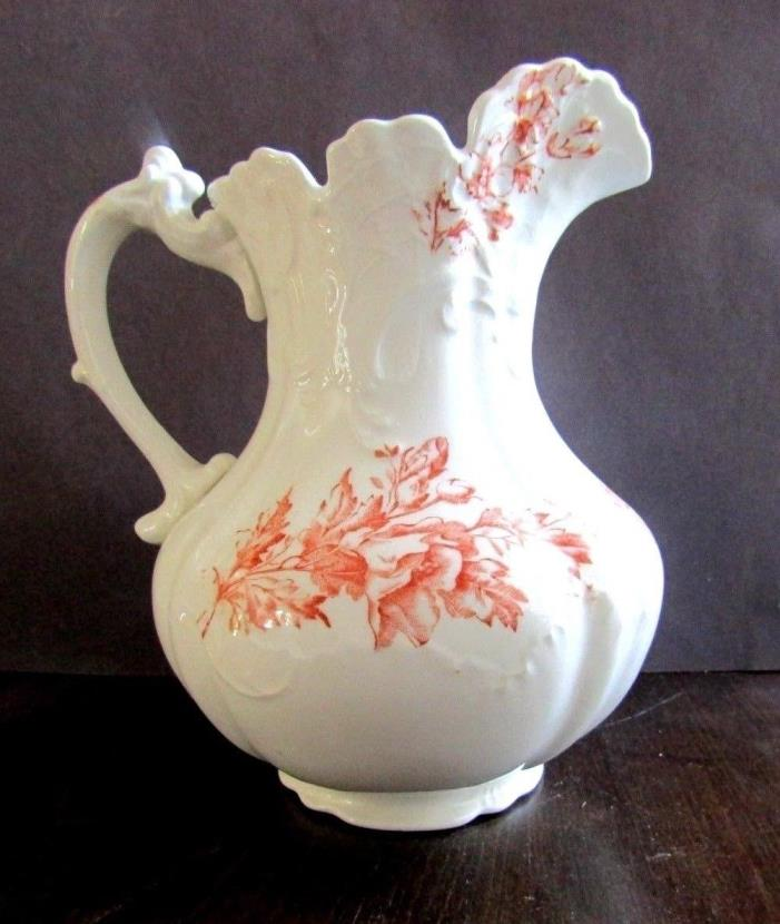 Dresden Large Porcelain  Pitcher 8