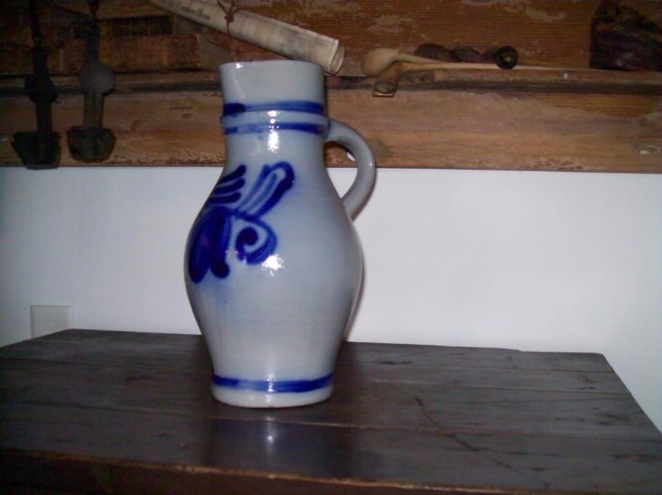 salt glazed stoneware pitcher