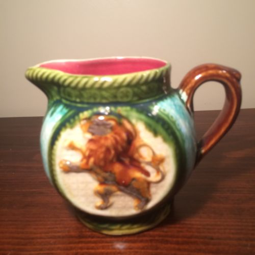 Antique Frie Onnaing French  Majolica Pitcher 4 3/8