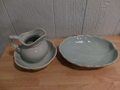 Vintage Blue Pitcher and Bowl Set 7528