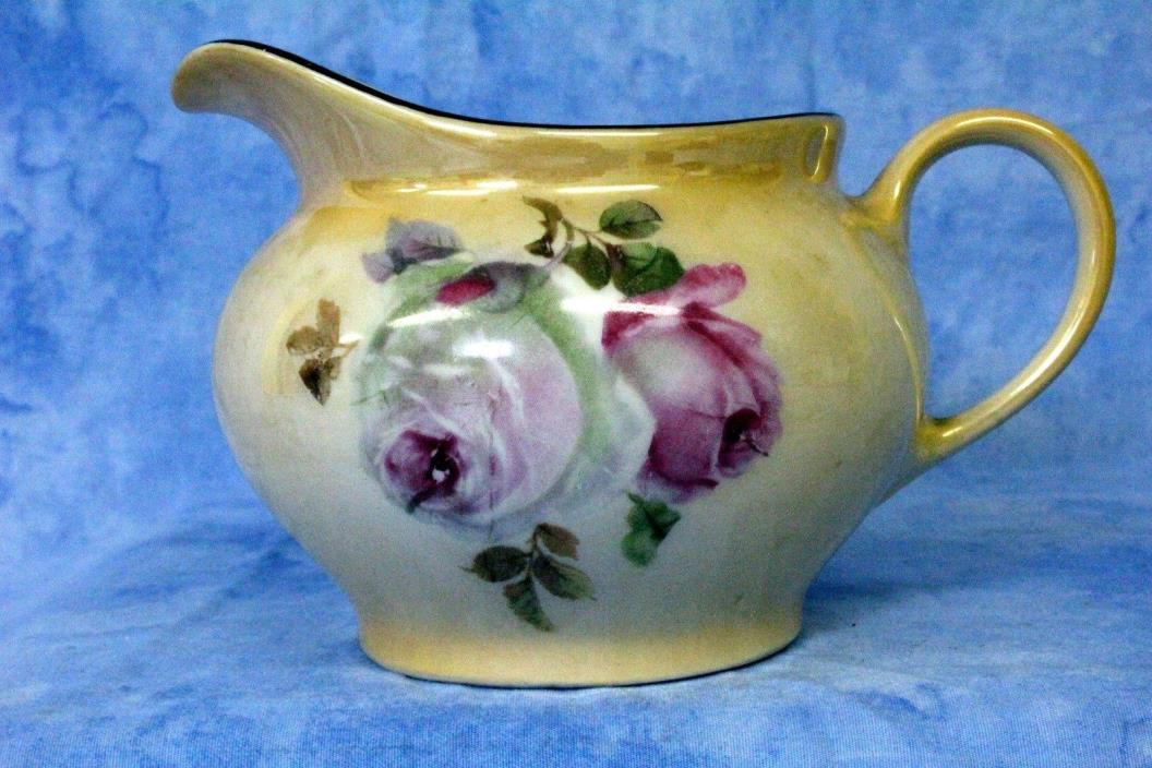 Chickaree Union Church Vintage hand painted Water Pitcher Made in Bavaria