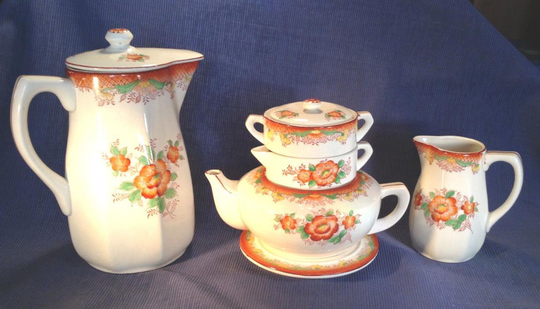 Mikori - Nesting Teapot Sugar Creamer And Trivet Plus Coffee Carafe And Pitcher
