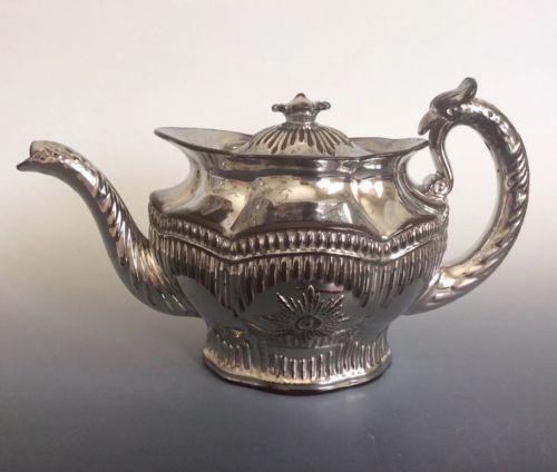 Antique English Silver Lustre Teapot