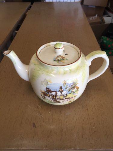Antique Tea pot With horses Price Bros. England