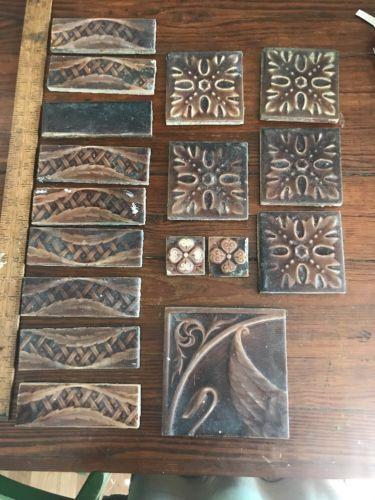 LOT OF 17 VINTAGE TILE  10 Kensington Tile And 7 UNMARKED MATCHING TILES