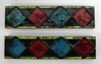 Vintage Border Tile Set=2 England