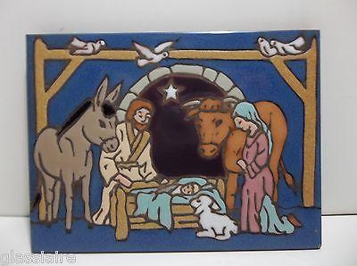 Vintage Art Tile NATIVITY Holy Family 8