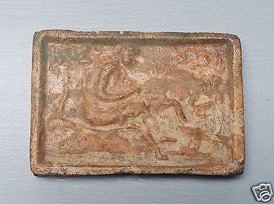 Antique 16th or 17th C Dutch Stoneware Pottery Hearth Tile - Leda & The Swan PT