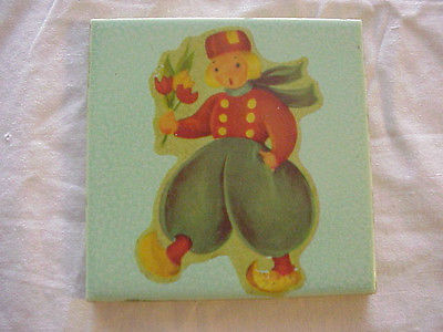 Antique Gladding McBean Tile Dutch Boy cool !!