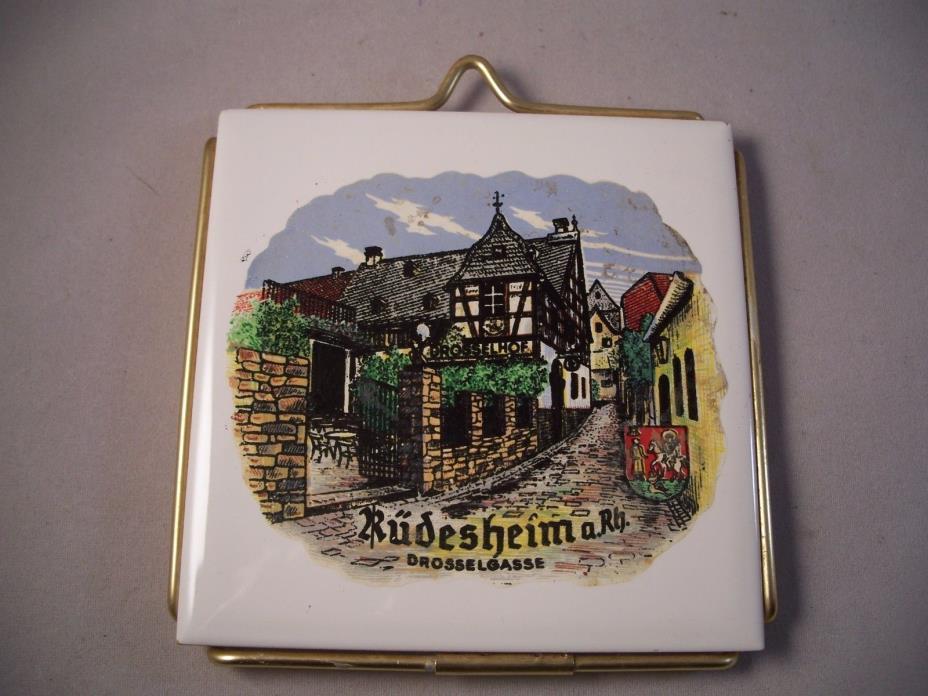 VIntage Danischburg Made in Germany Rudesheim Drosselgasse - 4 1/4