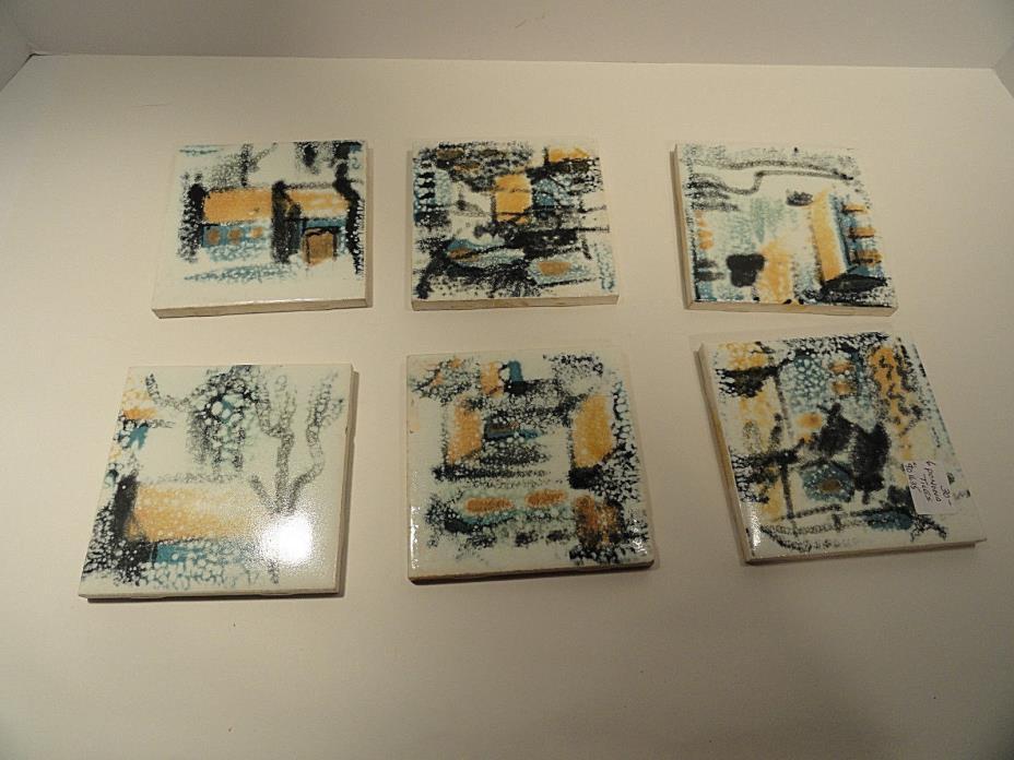 Vintage Pomona Tile Set of Six