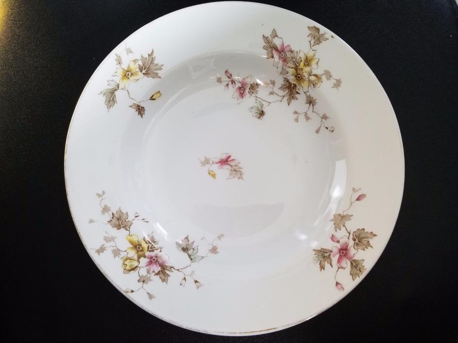 ROYAL STONE CHINA MADDOCK & CO, BURSLEM ENGLAND  SOUP SALAD BOWL DISH 8 3/4