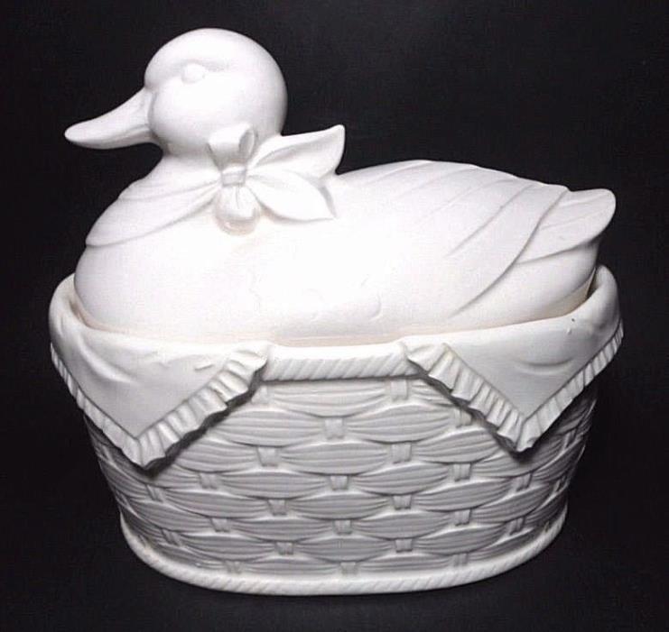 Vtg Nesting Duck Tureen Ceramic Lid 7.5