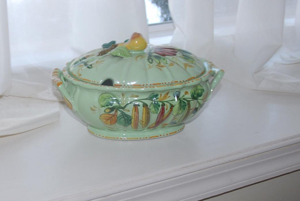 Vintage Antique Gravy or Soup Tureen from Italy