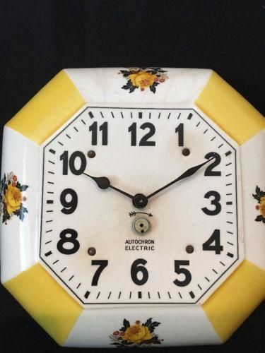 Vintage Autochron Electric Clock Wall Clock Mid Century Clock