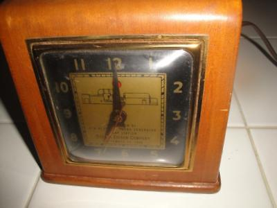 Boston Edison Company Antique Clock Rare 69 Years old Works Telechron Inc USA