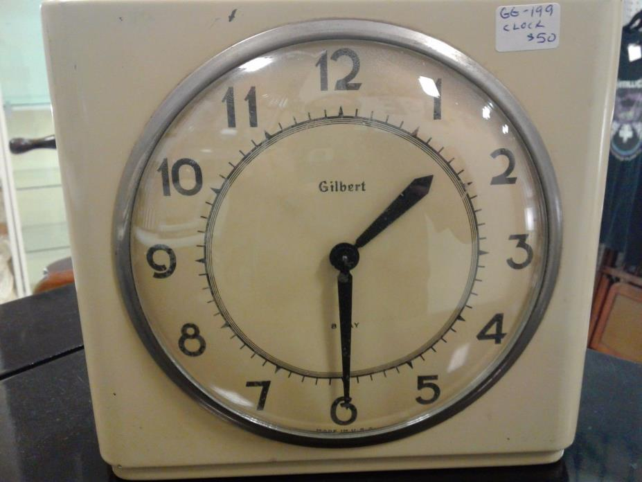 GILBERT WIND UP CLOCK.