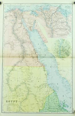 Egypt Antique Map 1891