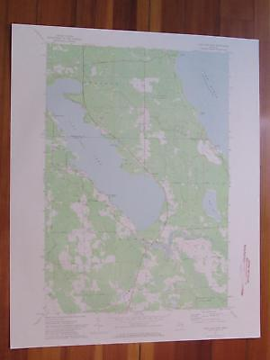 Long Lake East Michigan 1974 Original Vintage USGS Topo Map