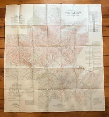 Vintage Pittsburgh Region Freeport Coal USGS Original Chart Map 1976