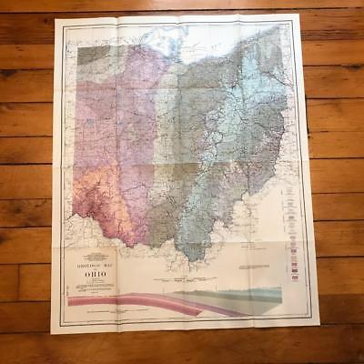 Vintage Geologic Map of Ohio 1981 USGS Original Chart Map
