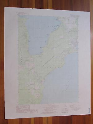 Manistique West Michigan 1984 Original Vintage USGS Topo Map