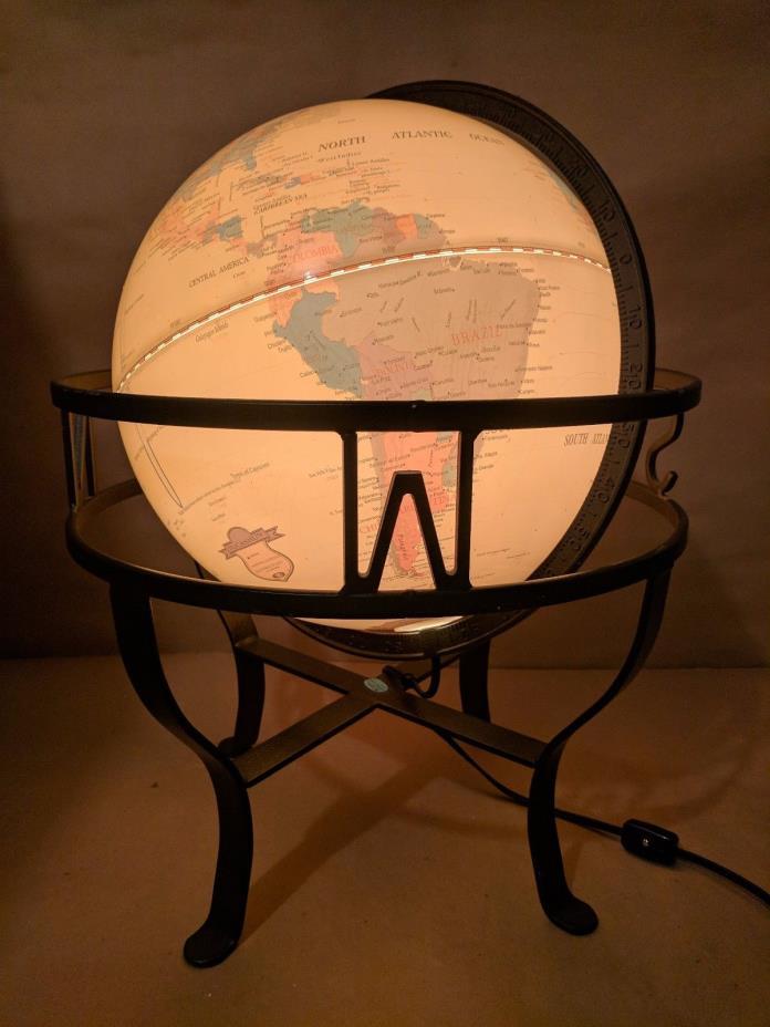 Vintage Fucashun Lamp World Globe 12