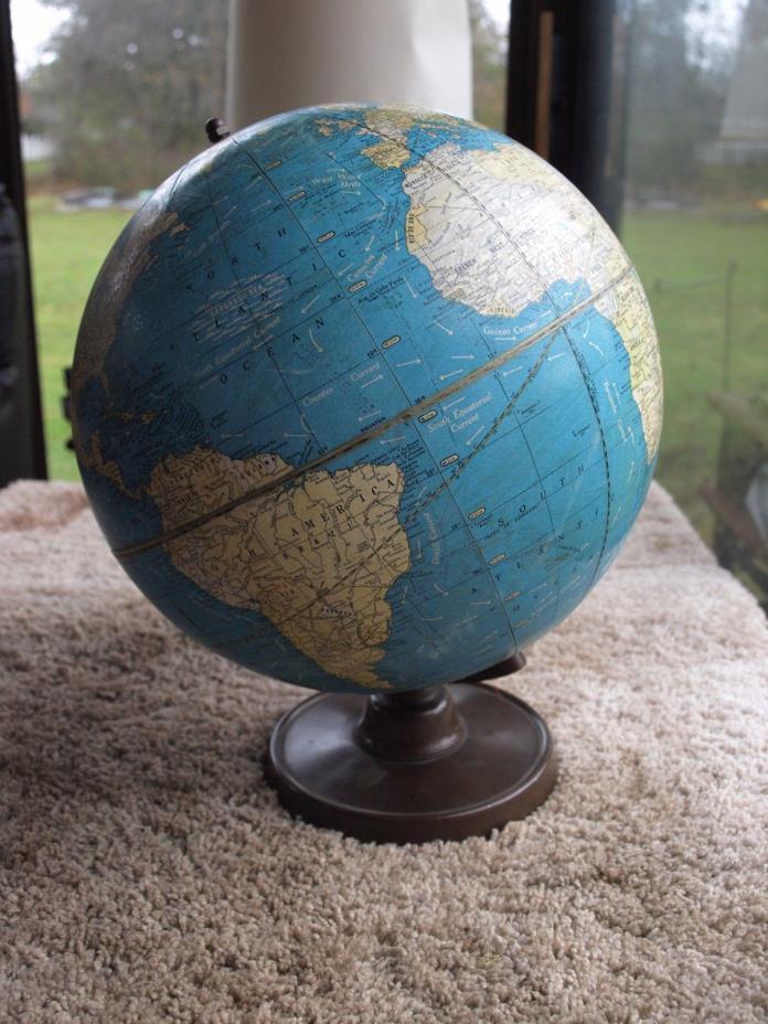 Vintage 1936 10.5 Inch Crams Universal Globe No. 105
