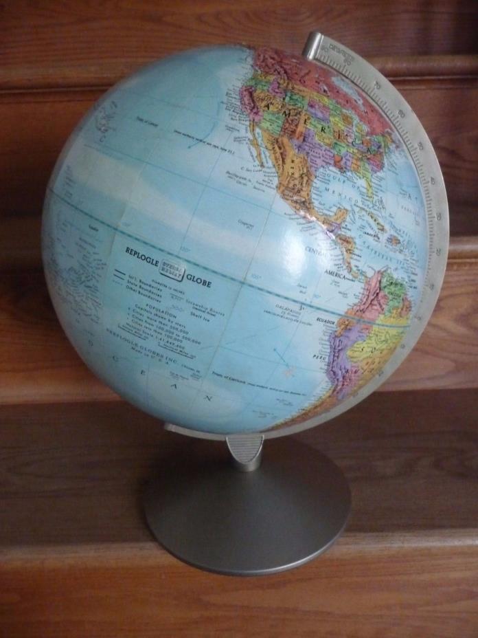 Vintage Replogle Stereo Relief Globe