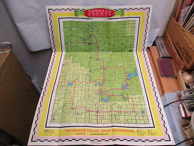 vintage Newaygo County, Michigan Map 27