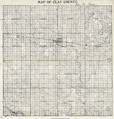 1896 Farm Line Map of Clay County Iowa