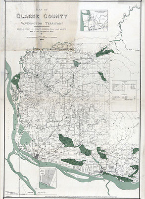 1888 Map of Clarke County Washington