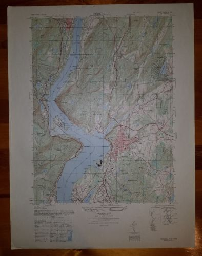 Peekskill New York vintage 1940's topographic map 6266 IV SW
