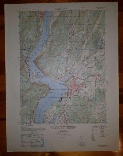 Peekskill New York vintage 1940's topographic map 6266 IV SW