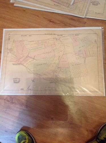1877 G.M. Hopkins,Middle River Sta.Rossville Philadelphia Rd Map